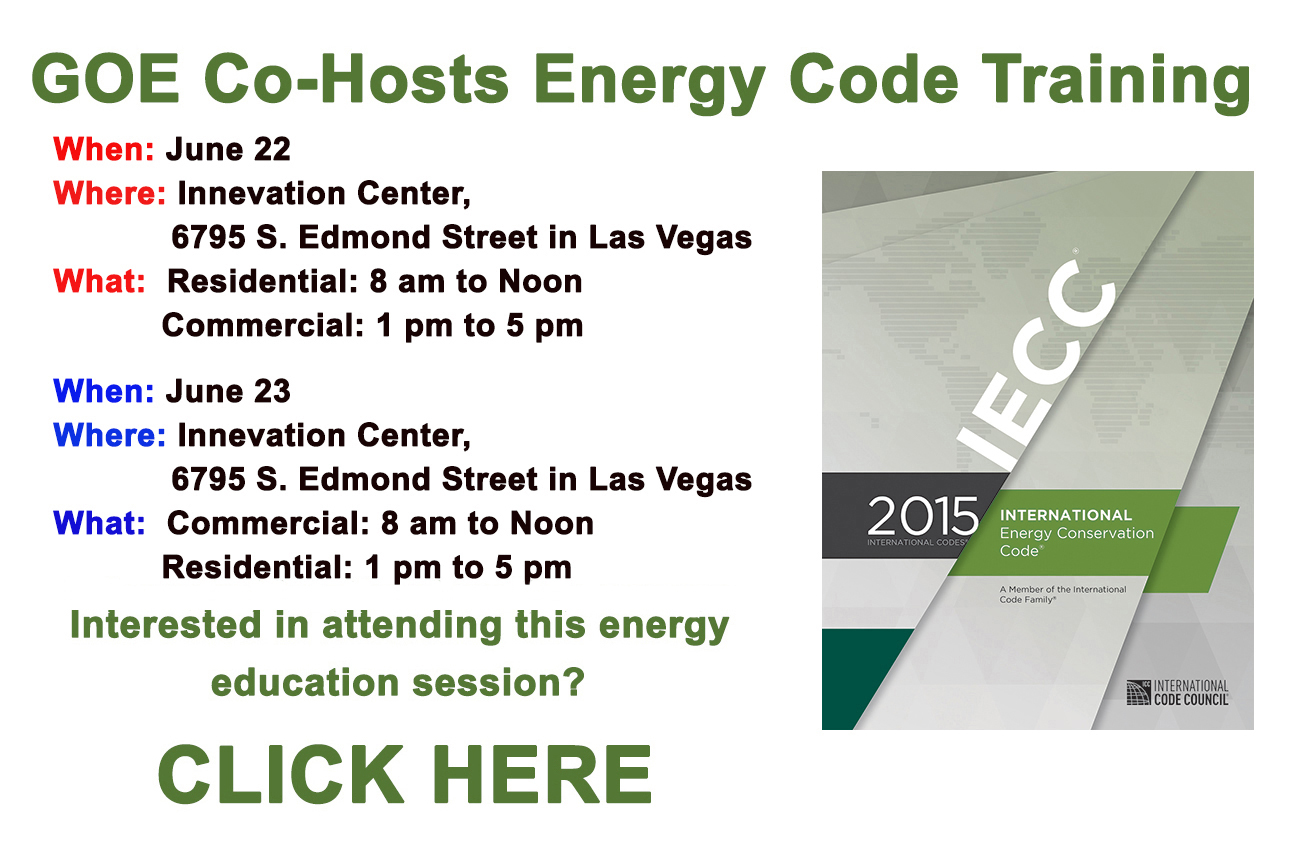 GOE To Co-Host Building Energy Code Training