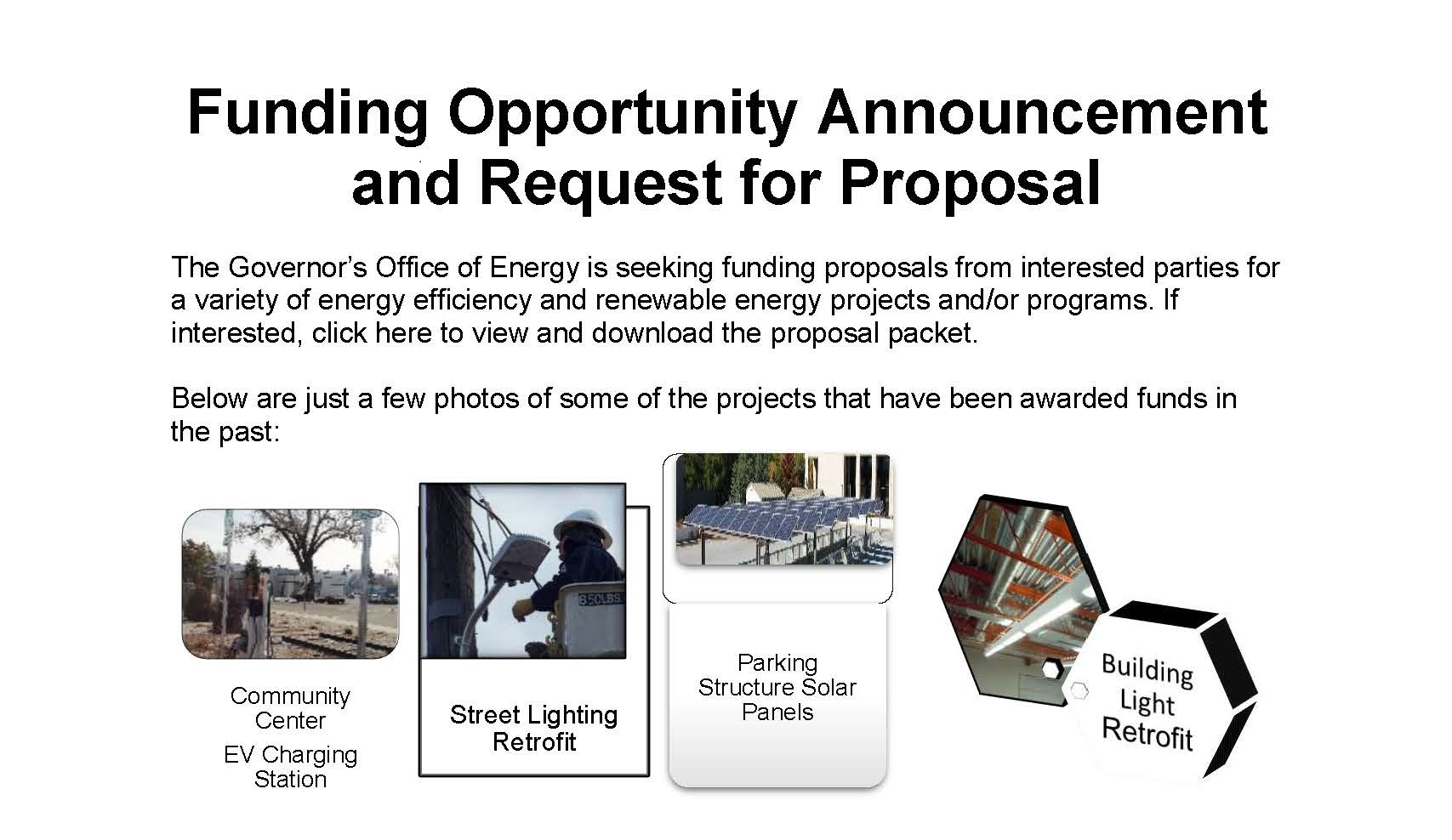 Funding Opportunity Announcement and RFP