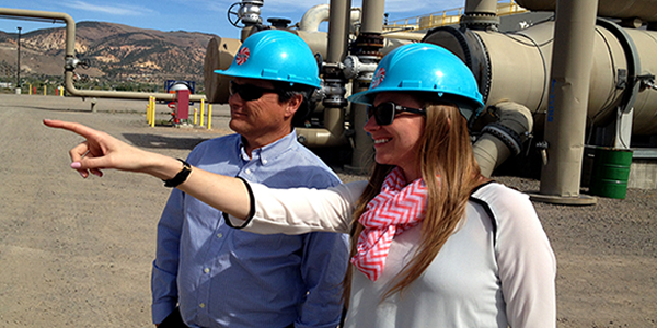 Kevin Hill Tours Ormat's Steamboat Geothermal Complex