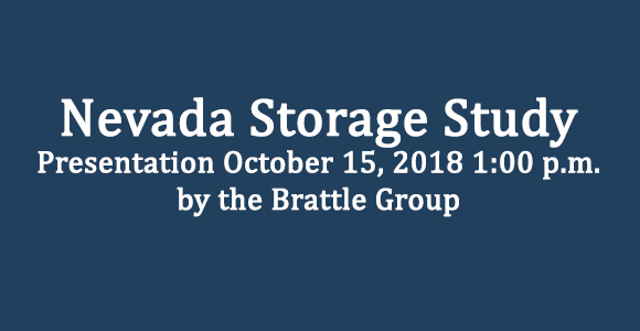 Nevada Storage Study Presentation October 15, 2018 at 1:00 pm by the Brattle Group