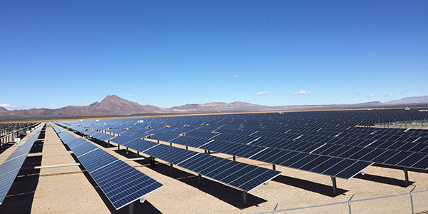 Solar panels in southern Nevada