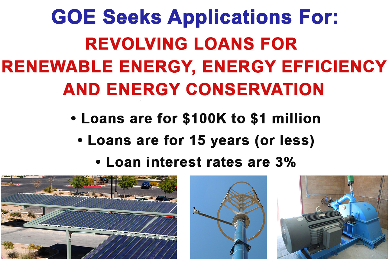 GOE Seeks Low-Interest Loan Applications for Renewable Projects